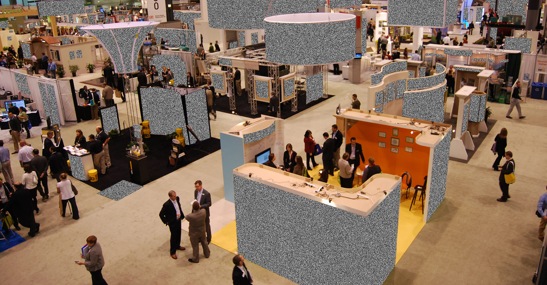 noise and static trade show image for a b2b brand business blog post